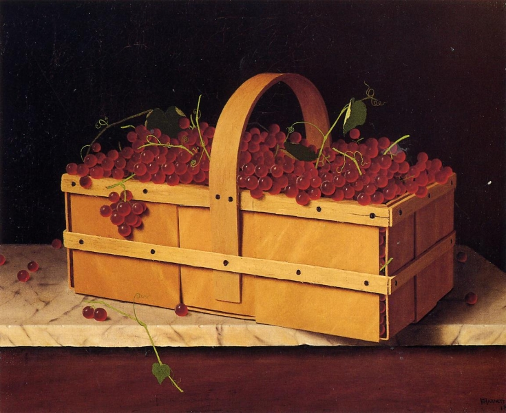 A Basket of Catawba Grapes by William Michael Harnett