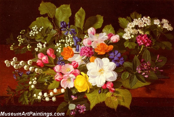 A Bouquet Of Spring Flowers On A Ledge