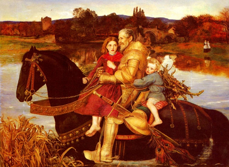 A Dream of the Past Sir Isumbras at the Ford by Sir John Everett Millais