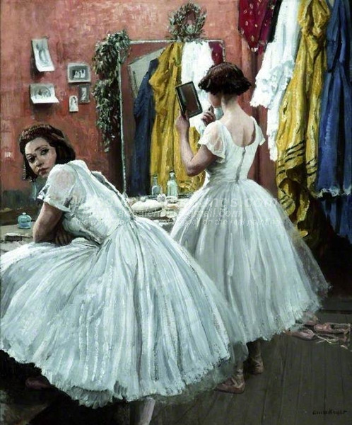 A Dressing Room at Drury Lane by Laura Knight