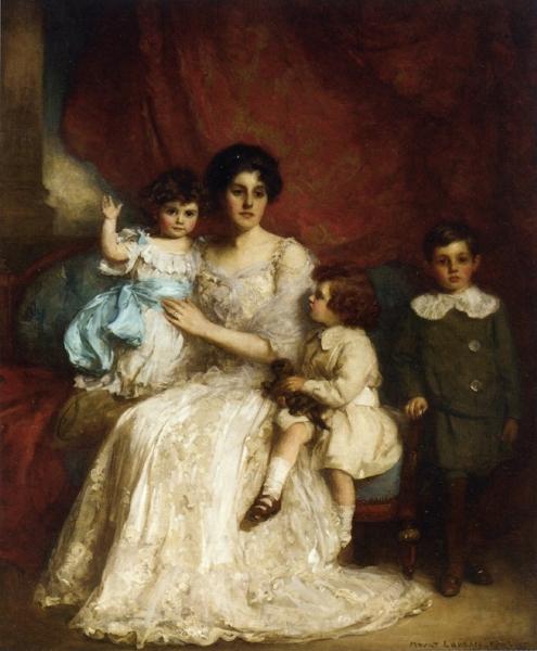 A Family Portrait by William Mouat Loudan