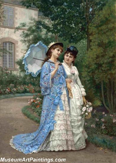 A Garden Stroll Painting