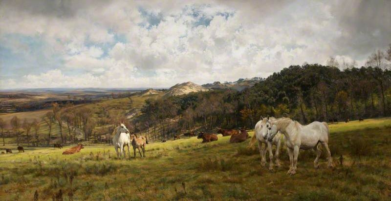 A Gleamy Day in Picardy by Henry William Banks Davis