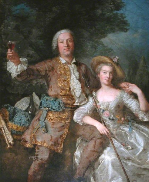 A Lady and Gentleman as a Shepherd and Shepherdess