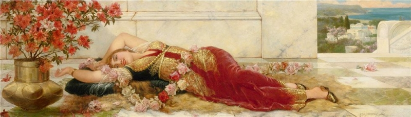 A Languid Harem Beauty by Emile Eisman Semenowsky