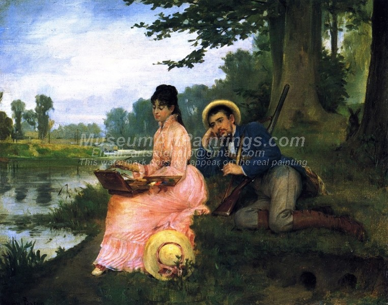 A Leisurely Afternoon by Henry Bacon