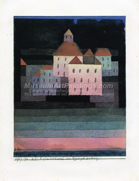 A Little Memory of Nymphenburg by Paul Klee