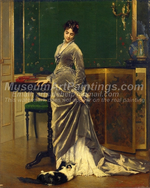 A Playful Moment by Gustave Leonard de Jonghe