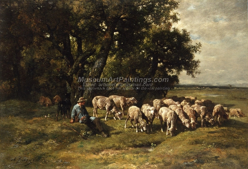 A Shepherdess with Her Flock 1