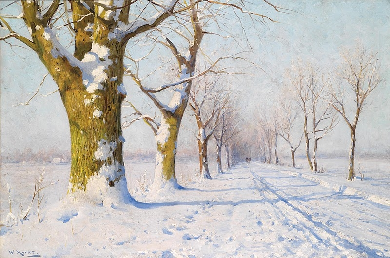 A Sunny Winters Day by Walter Moras
