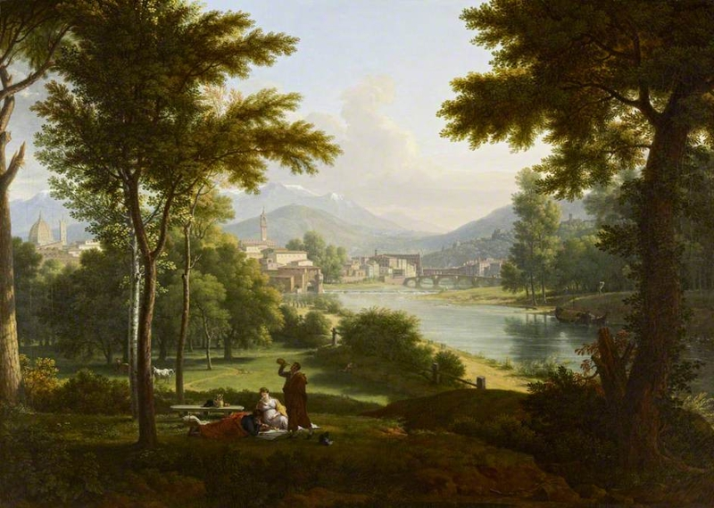 A View of Florence from the North Bank of the Arno by Fabre