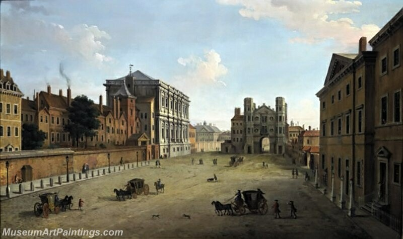 A View of Whitehall with the Banqueting House and the Holbein Gate Painting