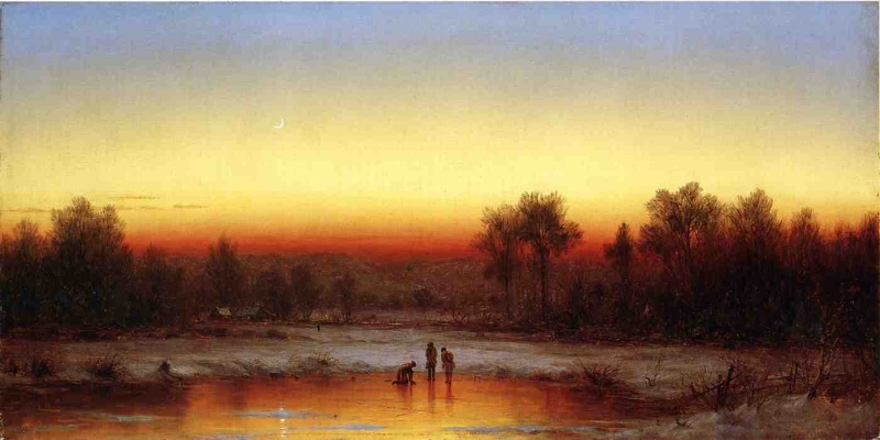 A Winter Twilight by Sanford Robinson Gifford