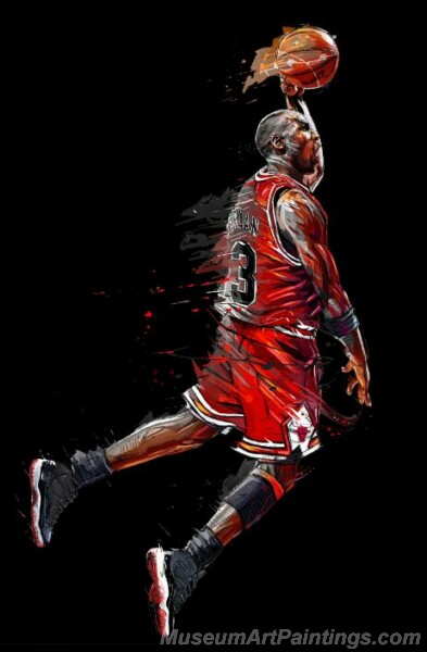 Abstract Art Painting Michael Jordan Poster Fly Dunk Basketball Canvas Painting Posters