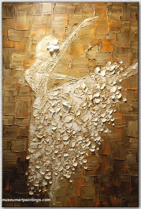 Abstract Ballet Oil Painting Dancer