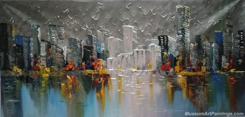 Abstract City Landscape Paintings 002