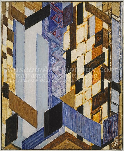 Abstract Paintings Vertical and Diagonal Planes