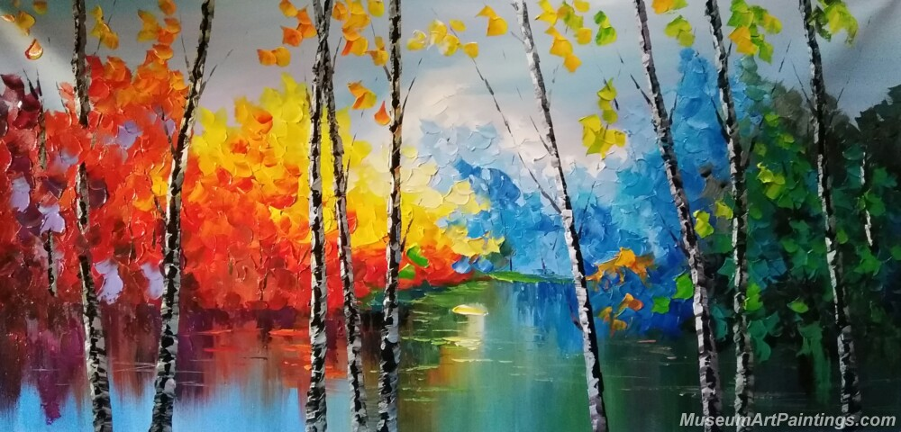 Abstract Tree Landscape Paintings 005