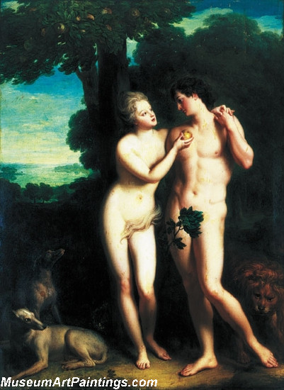 Adam and Eve Painting by Jean Baptiste Santerre