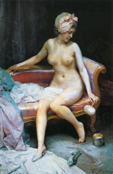 After the bath by Raimundo de Madrazo y Garreta