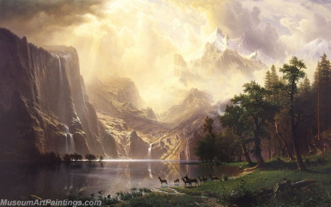 Albert Bierstadt Among the Sierra Nevada