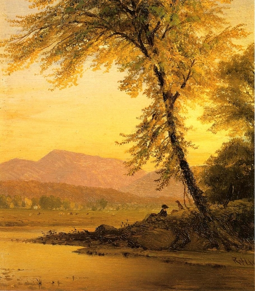 An Afternoon by the River by Richard William Hubbard