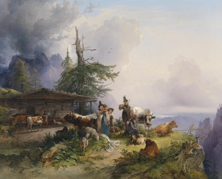 An Alpine Farm by Friedrich Gauermann
