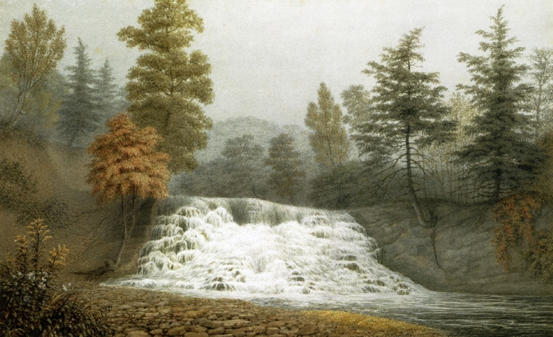 An Autumnal Fog A Cataract on the Estate of R donaldson Dsqr Dutchess County New York