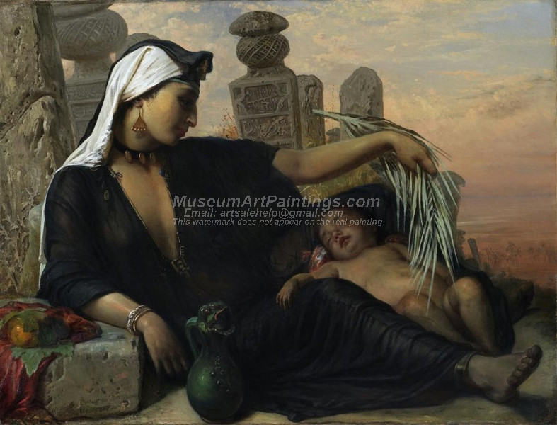 An Egyptian Fellah Woman with her Child