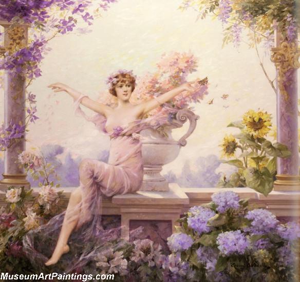 Angel Flora 1913 Painting