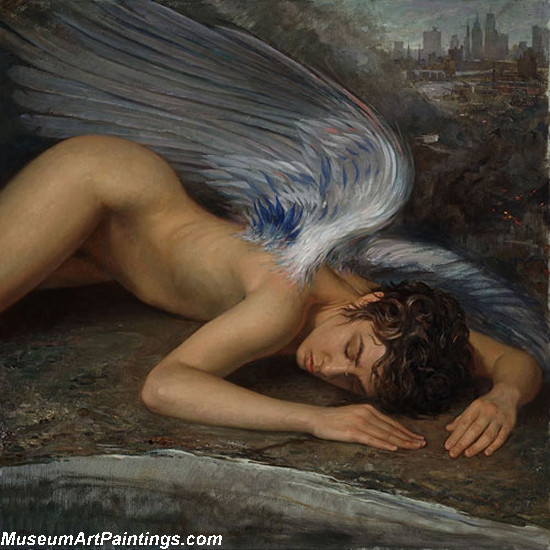 Angel Oil Paintings Fallen Angel