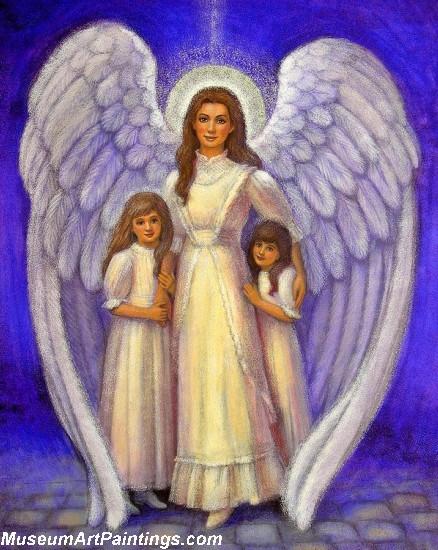 Angel Oil Paintings Guardian Angel Sue Halstenberg