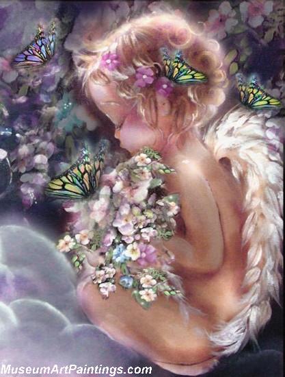 Angel Oil Paintings Heavens Little Angel