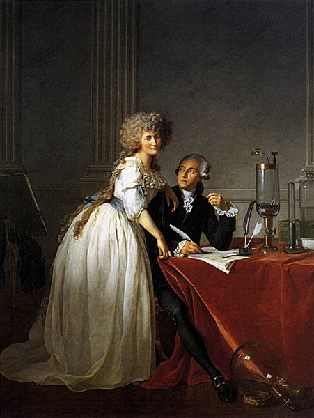 Antoine Laurent and Marie Anne Lavoisier Painting by Jacques Louis David