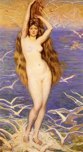 Aphrodite of the Sea Gulls by Phillip Leslie Hale