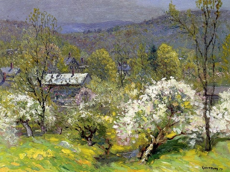 Apple Blossoms by John Joseph Enneking