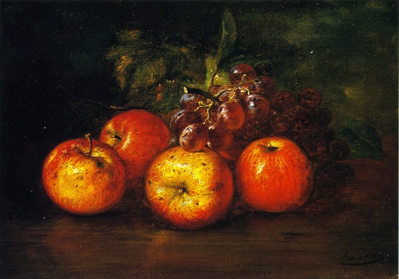 Apples and Grapes by August Laux