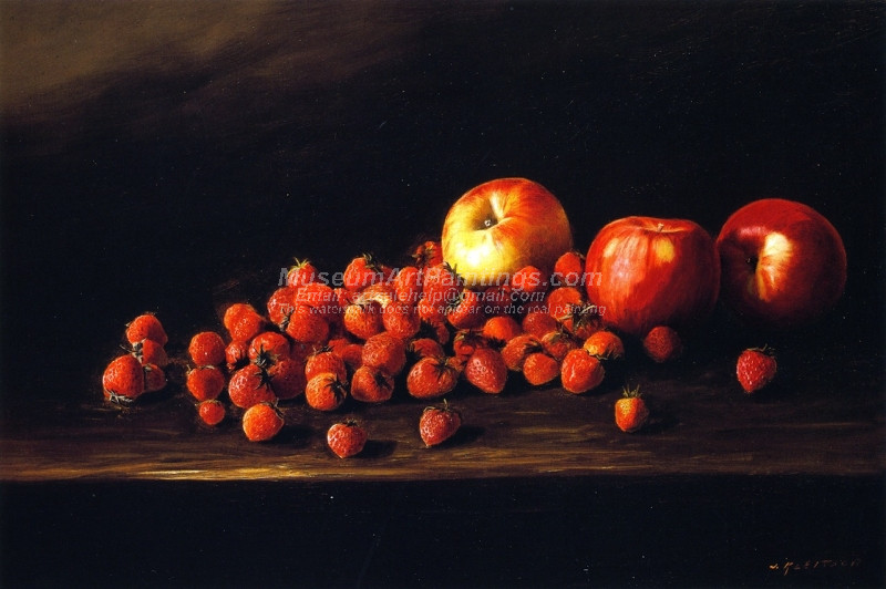 Apples and Strawberries by Joseph Kleitsch