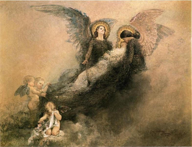 Arcessita ab Angelis by Carl Gutherz