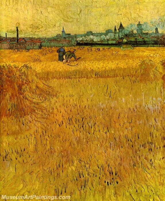 Arles View from the Wheat Fields Painting