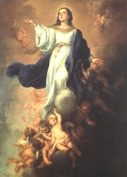 Assumption of the Virgin by Bartolome Esteban Murillo