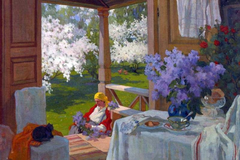 At the Dacha by Ivan Goryushkin Sorokopudov