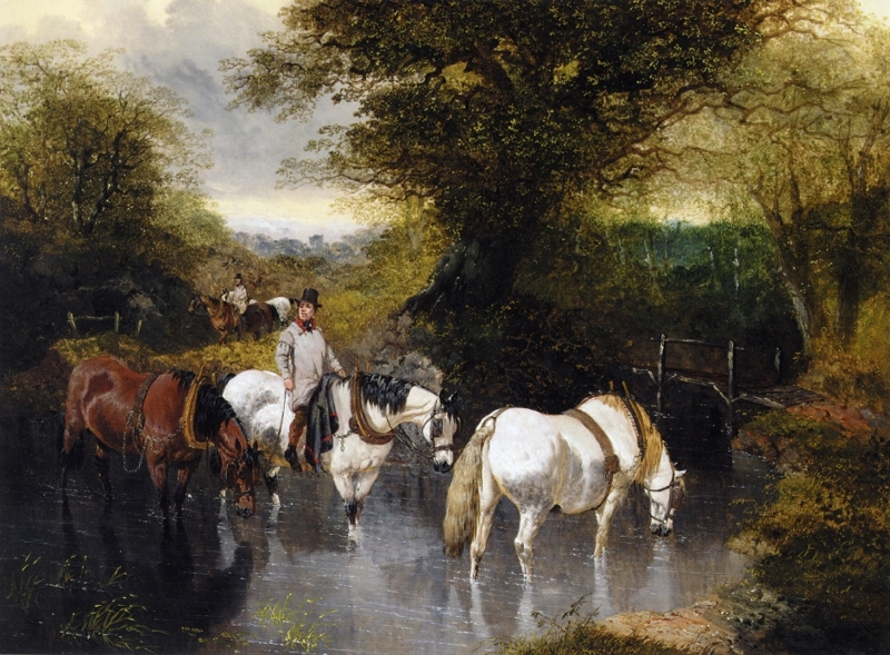 At the Ford by John Frederick Herring