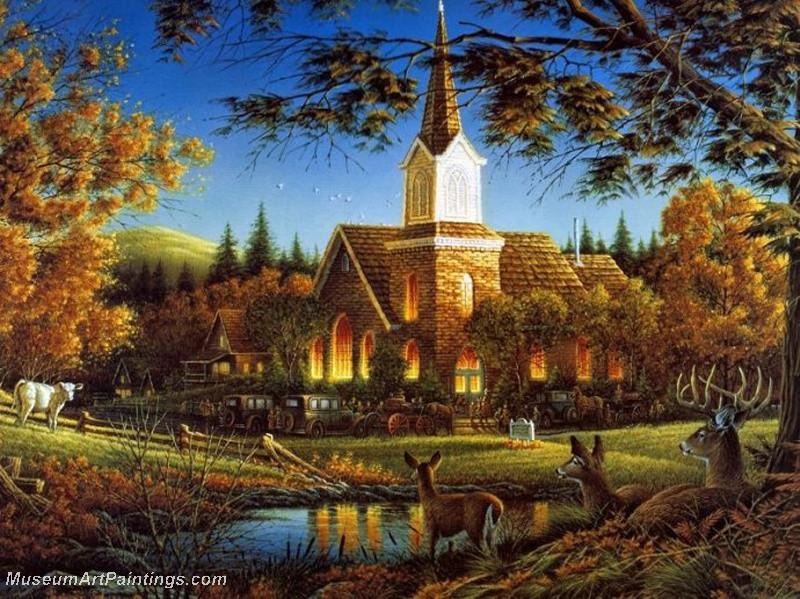 Autumn Landscape Paintings 009
