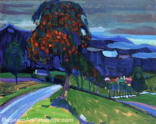 Autumn near murnau Painting