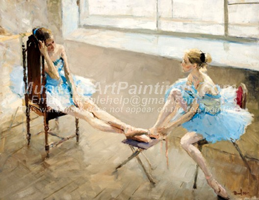 Ballet Oil Painting 008