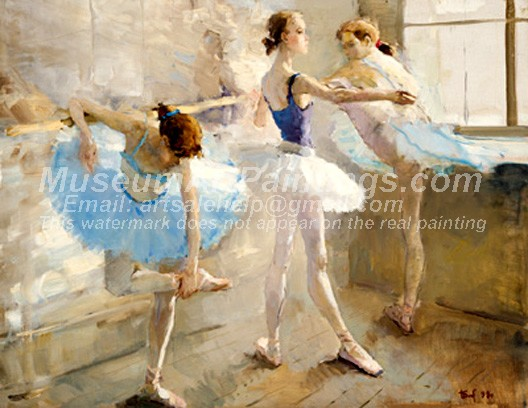 Ballet Oil Painting 009
