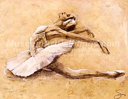 Ballet Oil Painting 016