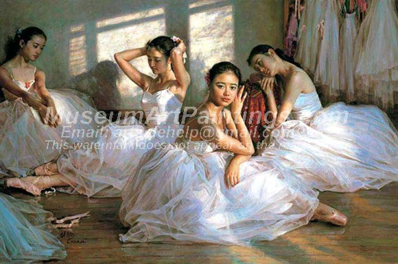 Ballet Oil Painting 018