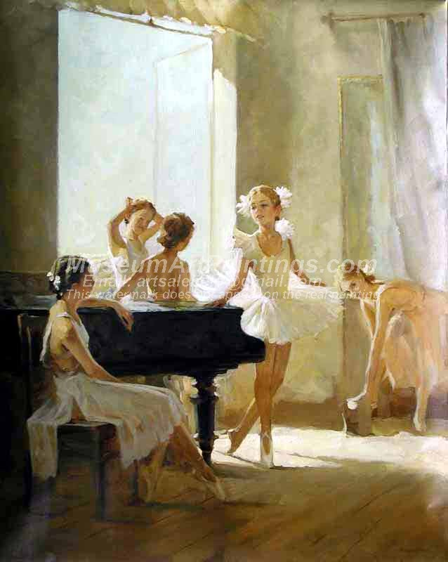 Ballet Oil Painting 020